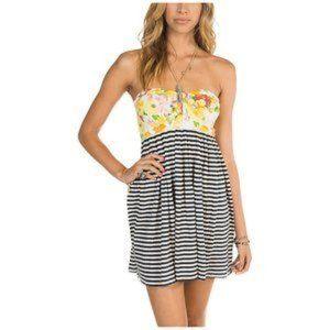 Billabong Striped Mix N It Up Dress Size Small